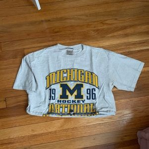 Michigan state LF cropped t shirt furst of a kind